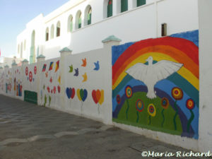 Mural outside a school