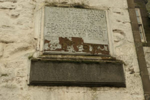 Cowane Hospital inscription