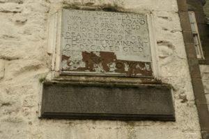Cowane Hospital inscription