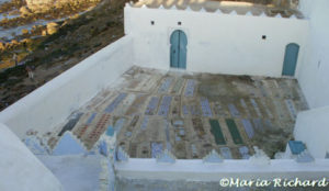 Mujaheddin Graveyard with tiled grave markers