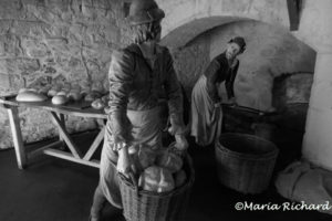 Bread bakers in the kitchen of Stirling Castle